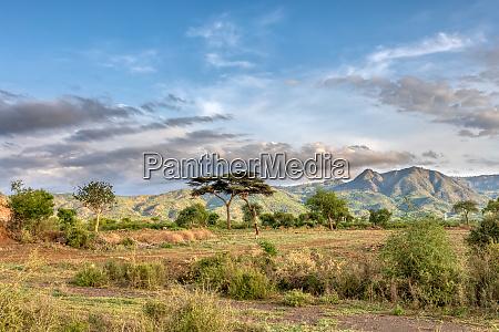 aethiopische landschaft in der naehe von