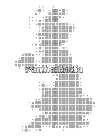 landkarte von grossbritannien
