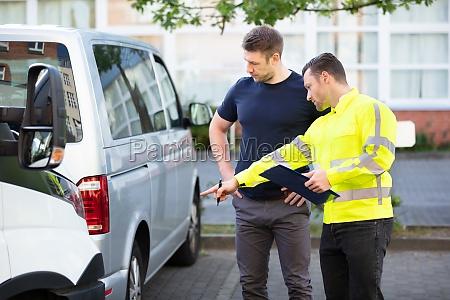 verlustregler mit zwischenablage inspektionen beschaedigtes auto