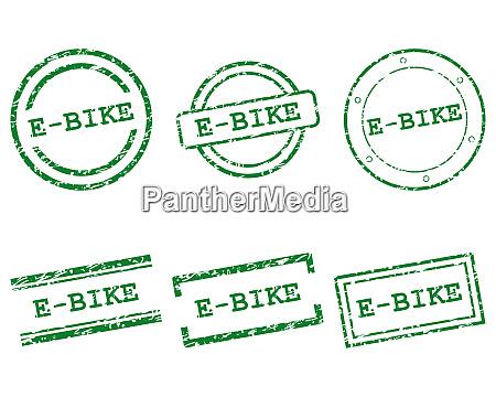 e bike briefmarken