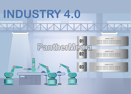industrie, 4.0, smart, factory, infografik, mit - 27396390