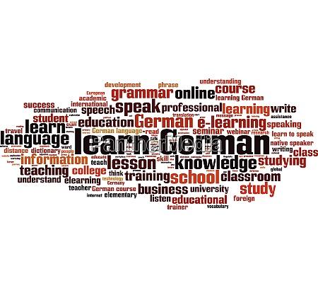 deutsch wortwolke lernen
