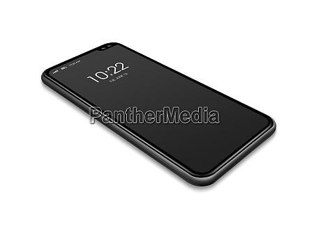 smartphone allscreen telefon handy isoliert mockup