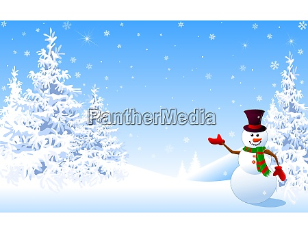 schneemann weihnachten grusskarte winter hintergrund