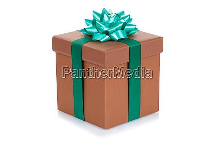 geburtstagsgeschenk weihnachten geschenk braun ebox isoliert
