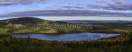 panorama des eagle lake im acadia