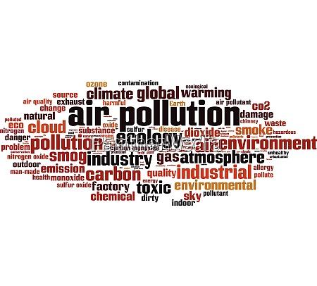 luftverschmutzung wort wolke