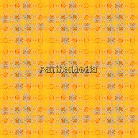regelmaessige komplizierte muster gelb orange und
