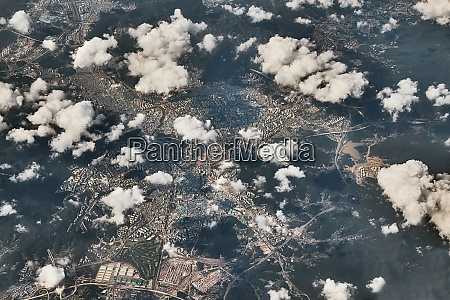 chinese city aerial view