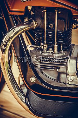 vintage motorrad auspuffrohr und zylinder