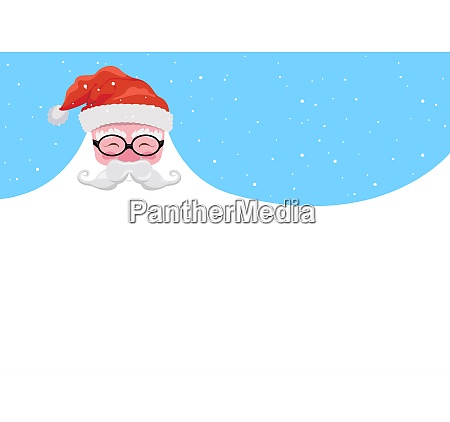 christmas background happy santa with a