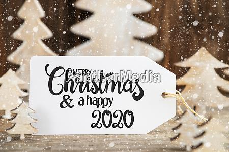 weihnachtsbaum label mit frohe weihnachten und