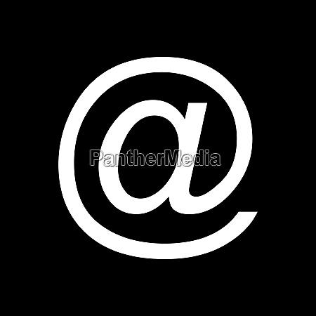e mail symbol und hintergrund