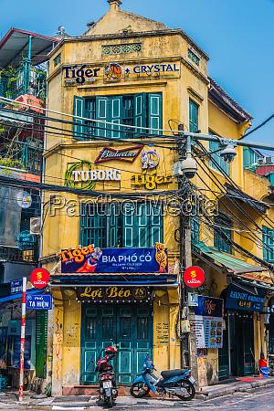 architektur der altstadt von hanoi vietnam