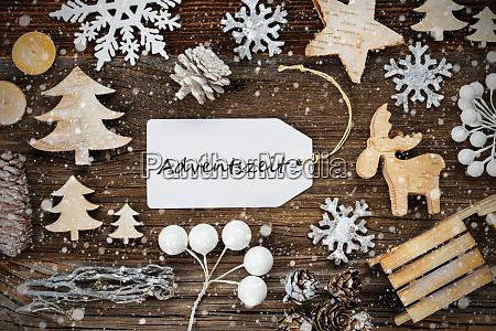 label rahmen weihnachtsdekoration adventszeit bedeutet adventszeit