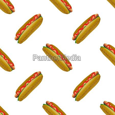 strasse fast food nahtlose muster frischer