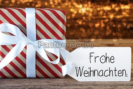 weihnachtsgeschenk label frohe weihnachten bedeutet frohe