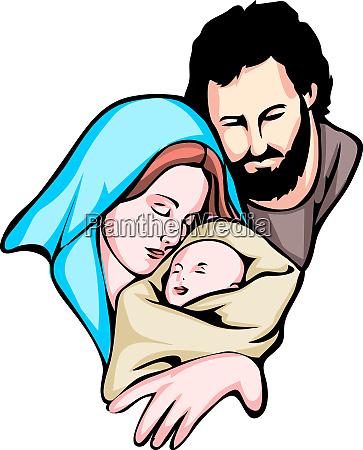 weihnachten heilige familie baby jesus nazareth