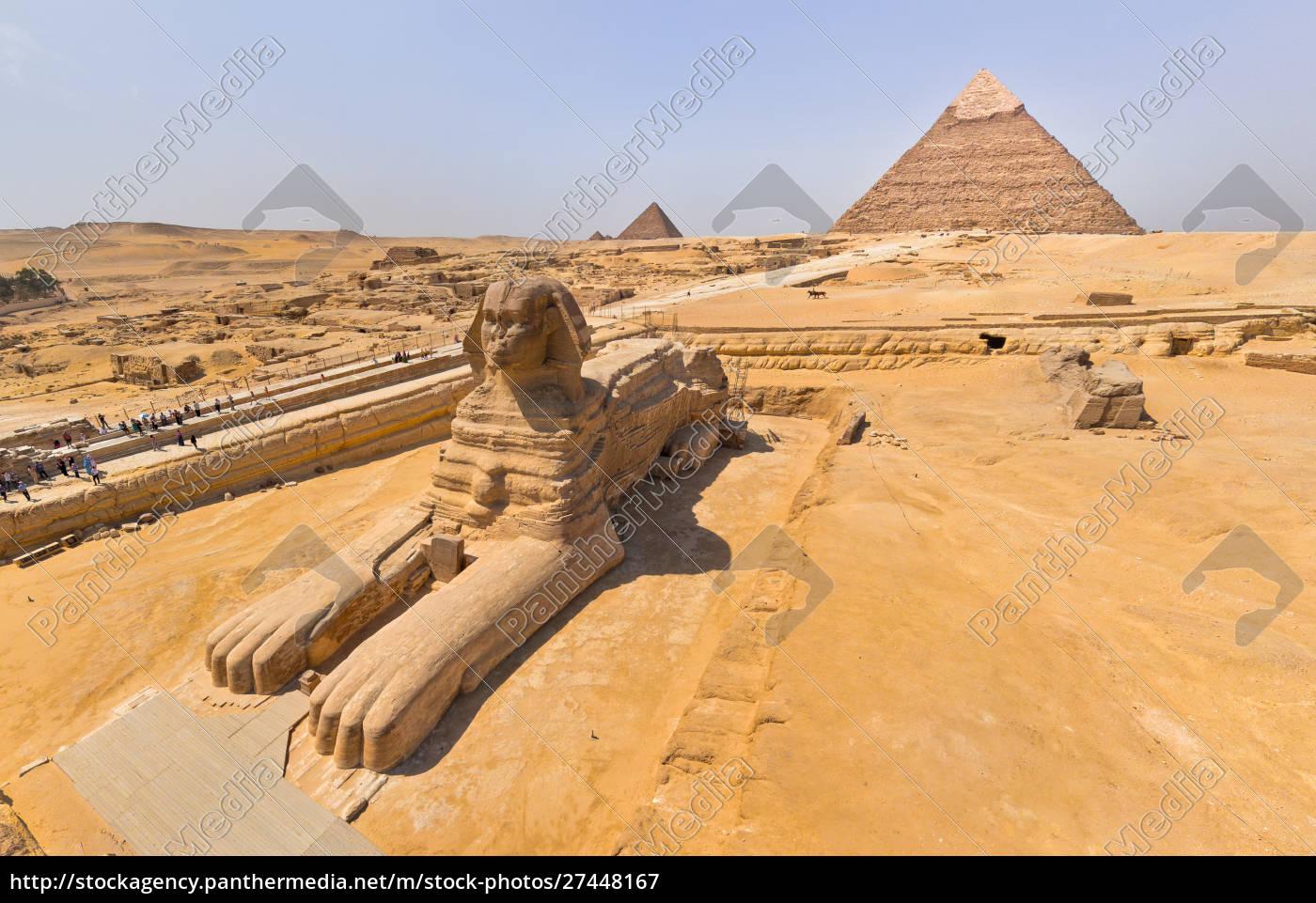 Luftaufnahme Der Grossen Sphinx Von Gizeh In Agypten Stockfoto 27448167 Bildagentur Panthermedia