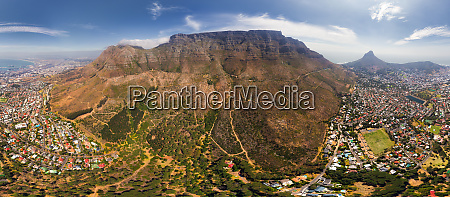 aerial view of the table mountain