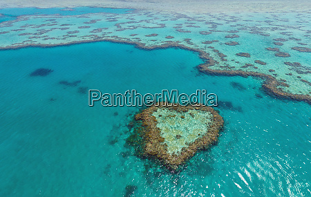 aerial view of heart shape inthe
