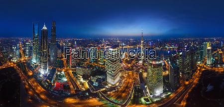 luftaufnahme der stadt shanghai in der