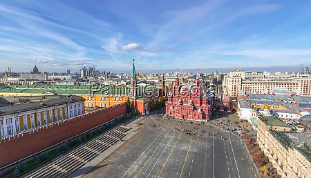 luftaufnahme des platzes im moskauer kreml