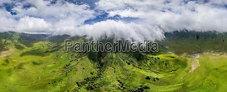 luftaufnahme des bromo tengger semeru nationalparks