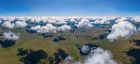 luftaufnahme der praeural steppe naturschutzgebiet orenburg