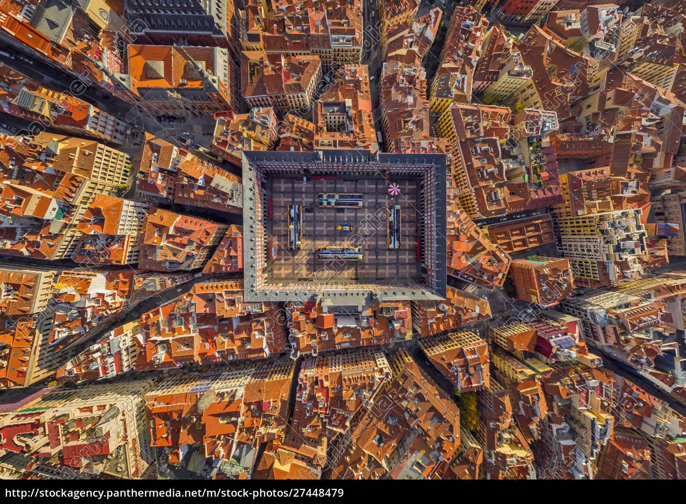 luftaufnahme, über, der, plaza, mayor, madrid, spanien - 27448479