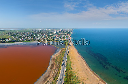 aerial view of the feodosia gulf