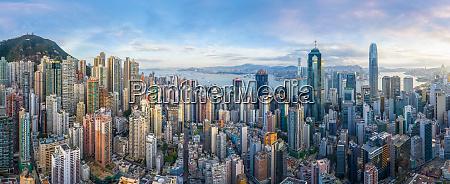 luftaufnahme des stadtbildes von hongkong im