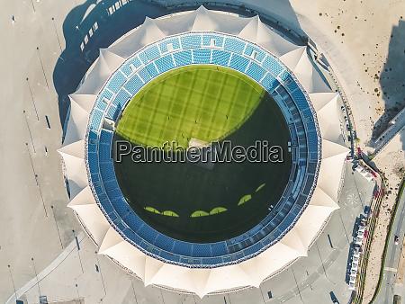 luftaufnahme des internationalen cricket stadions in