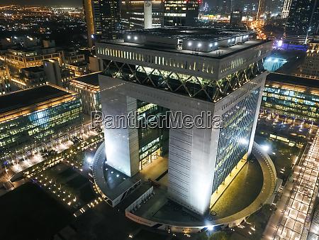luftaufnahme des dubai international finance center
