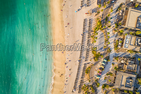 aerial view of a luxury beach