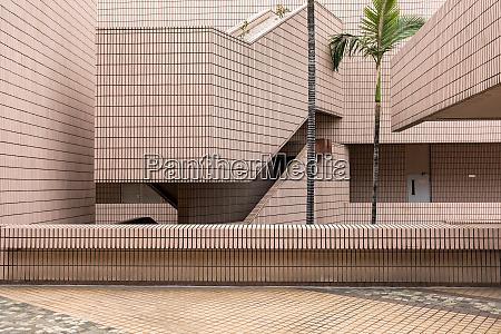 zeitgenoessische architektur museum gebaeudestruktur in hong