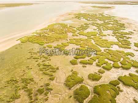 abstrakte luftaufnahme der formosa lagune
