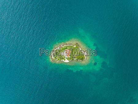 aerial view of agios nikolaos monastery
