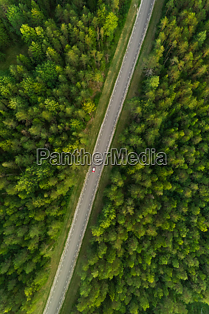 aerial view of road with a