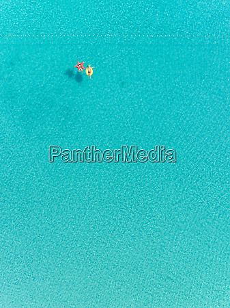 aerial abstract view of two people