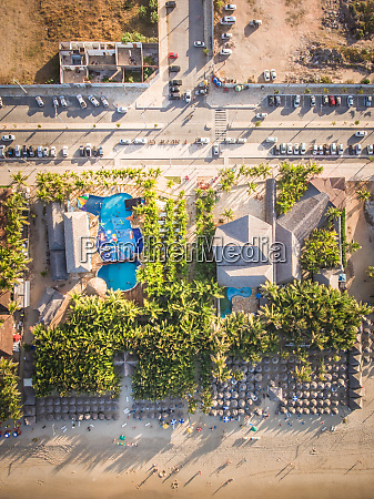 aerial view of activities complex on