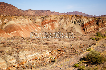 luftaufnahme von painted valley suguta valley