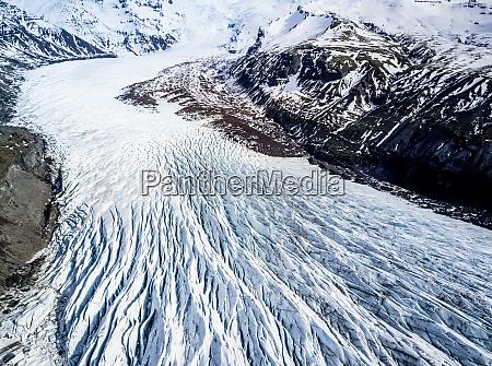luftaufnahme des gletschers in island