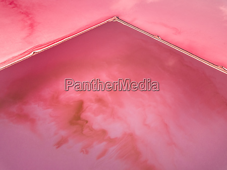 aerial view of salt beds at