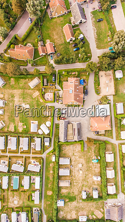 aerial, view, of, a, campsite, in - 27455024
