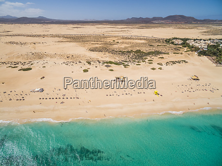 luftaufnahme von corralejos big beaches mit