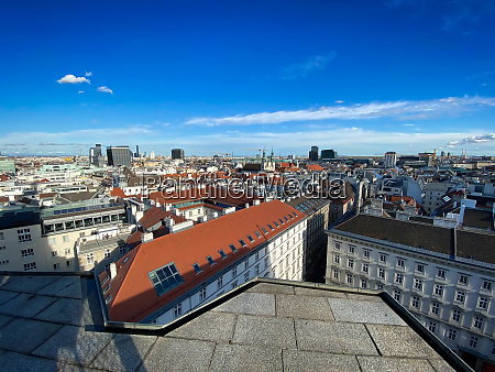 vienna cityscape high angle view