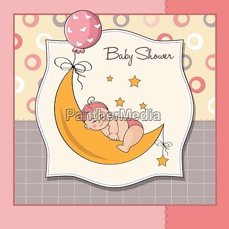 baby maedchen dusche karte