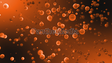 abstract graduated orange background with floating