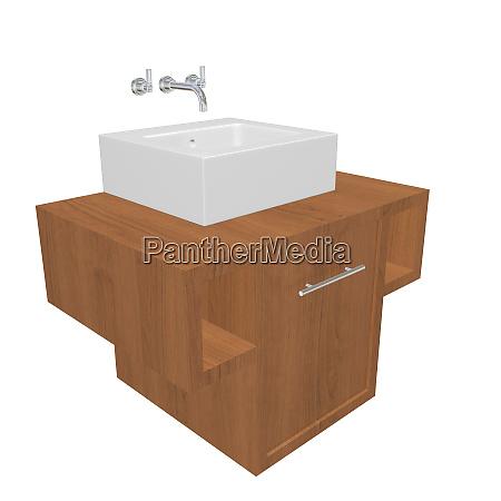modernes bad waschbecken set mit keramik